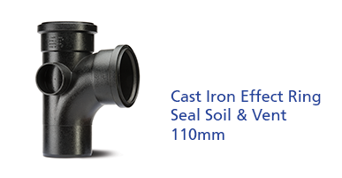 Cast Iron Effect Ring Seal Soil & Vent 110mm