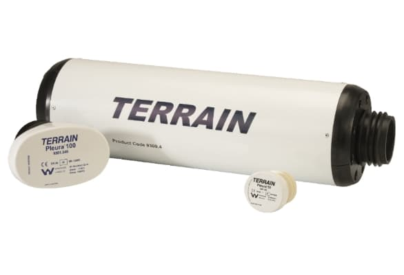 Terrain P.A.P.A.® (Positive Air Pressure Attenuator) and Pleura vent system for commercial and public buildings