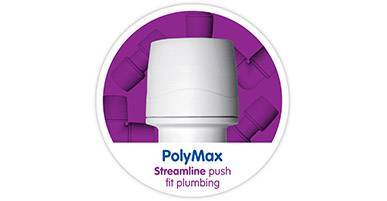 PolyMax White Tool Demountabale Streamlined Fittings
