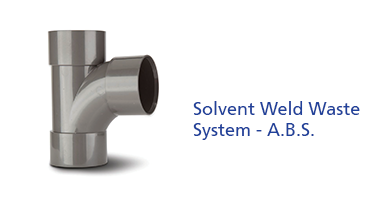 Solvent Weld Waste System - A.B.S.