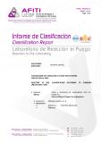 EN13501 Classification Report