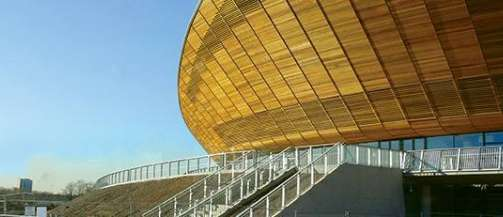 Rooftop siphonic drainage systems from Polypipe Terrain for Stadium roof and premises