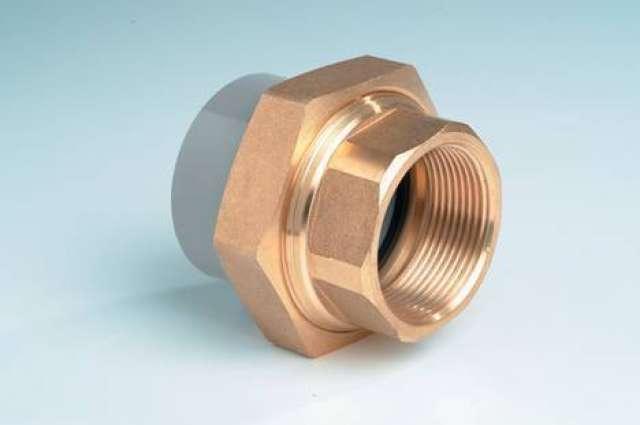 Effast ABS ½inch Composite Union Plain x BSP Female Brass Threaded Light grey