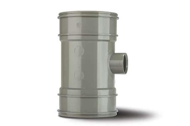 Single Boss Pipe 4in/110mm. Double Socket 32mm.