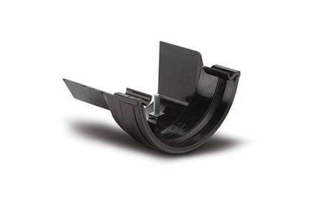 Plastic to Metal Gutter Adaptors Half Round to Ogee Left Hand.