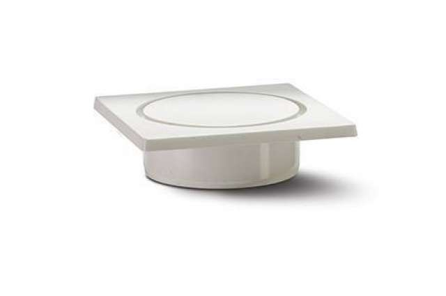 Trapped Floor Gully 82/50mm Outlet 4in/110mm. 150 x 150mm PVC Tile and Locking Strainer.