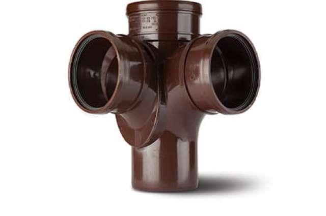 Corner Branch 4in/110mm. 92½° Triple Socket (Fabricated)
