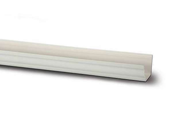 Polypipe Sovereign 117mm 2m Gutter White