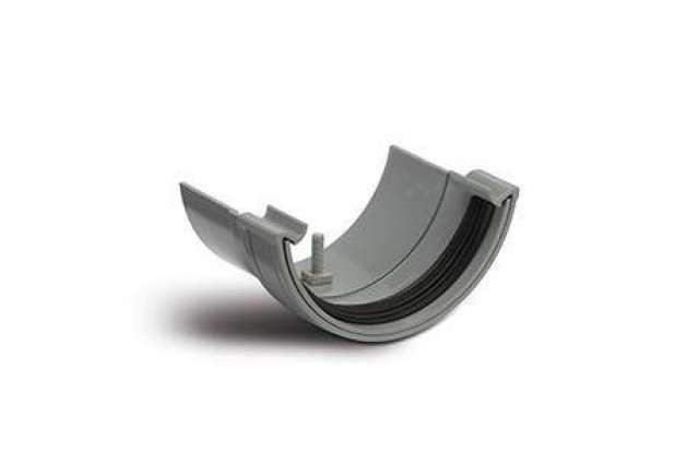 Plastic to Metal Gutter Adaptors Half Round to Half Round.