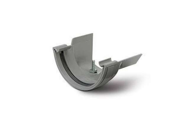 Plastic to Metal Gutter Adaptors Half Round to Ogee Right Hand.