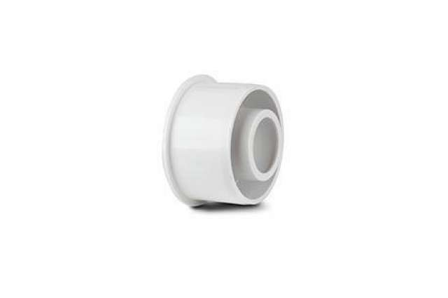 Polypipe Overflow ABS 40mm to 21.5mm Solvent Weld Reducer White