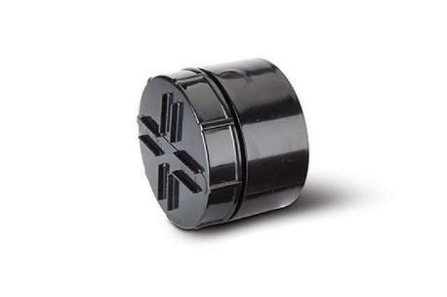 Screwed Access Plug and Cap 4in/110mm. Solvent Socket Tail