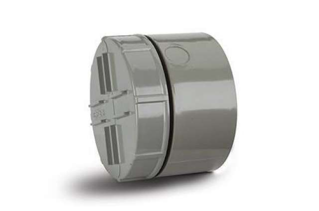 Screwed Access Plug and Cap 4in/110mm. Solvent Socket Tail. Cap.