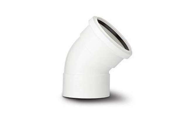 135° Bend Double Socket White 110mm