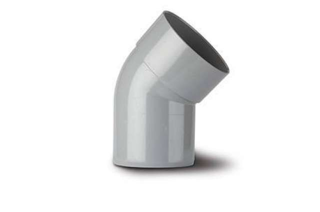 Offset Bend 4in/110mm. 135°. Solvent socket x spigot