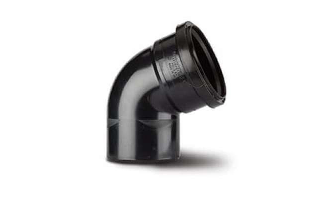 Single Socket Bend 4in/110mm. 112½°