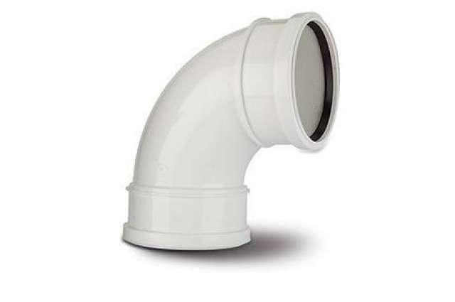 Double Socket Bend 4in/110mm. 92½° Double Socket