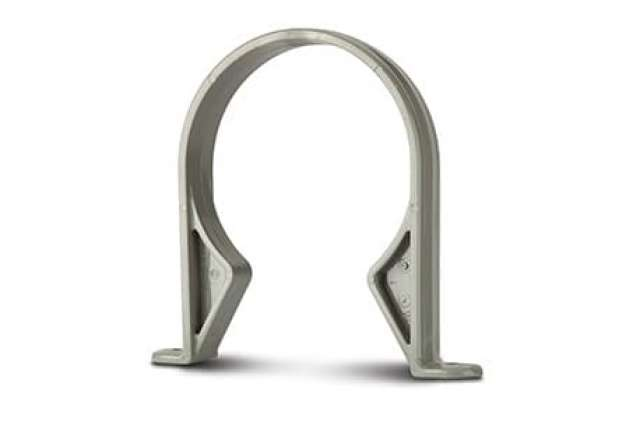 Pipe Clips (Plastic) 4in/110mm. Pipe (Saddle).