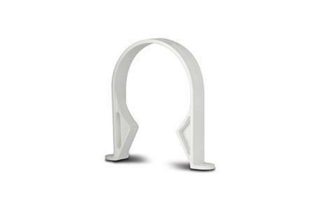 Pipe Clips (Plastic) 4in/110mm. Pipe (Saddle)