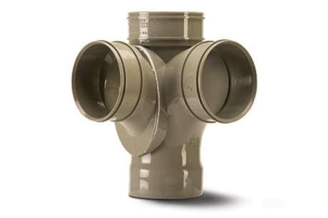 Corner Branch 4in/110mm. 92½°. Quadruple Socket.