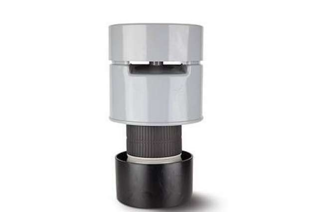 Air Admittance Valve 4in/110mm. PVCu Solvent Socket. Can be used externally.