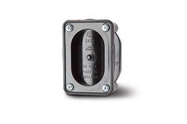 Access Pipe 3in/82mm. Double Socket - 2 Boss Shoulders.