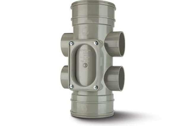 Access Pipe 3in/82mm. Single Socket - 2 Boss Shoulders.