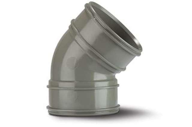 Double Socket Bend 4in/110mm. 135°.