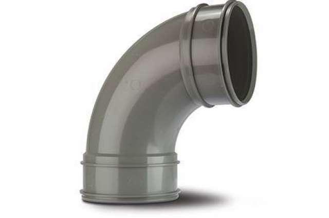 Double Socket Bend 4in/110mm. 92½°.