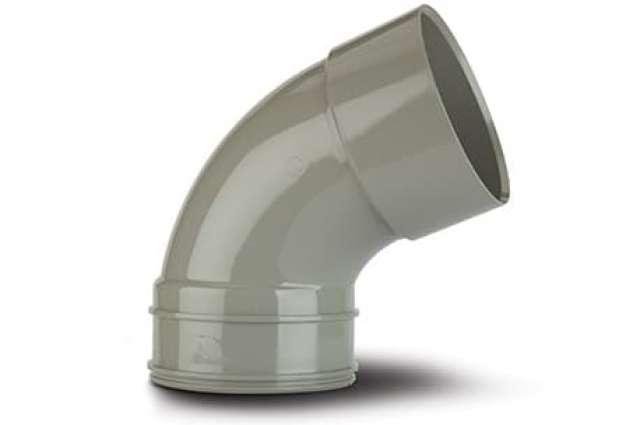 Double Socket Bend 4in/110mm. 112½°.