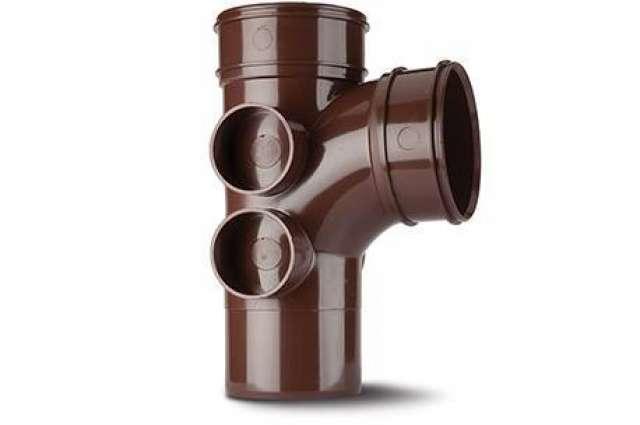 Single Branch 4in/110mm. 92½° (4 Boss Shoulders). (Double Socket).