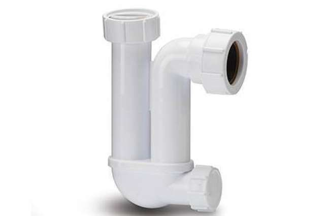 Trap 32mm Tubular With Cleaning Eye 75mm Seal White