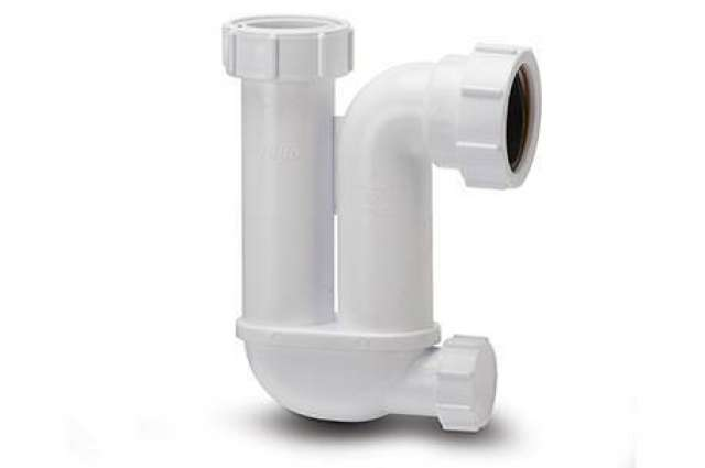 Trap 40mm Tubular With Cleaning Eye 75mm Seal White