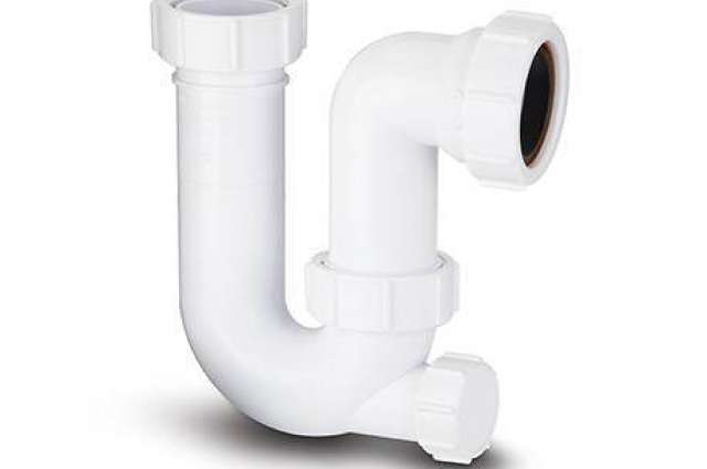 Tubular Swivel Trap 'P' (With Cleaning Eye) 40mm. 75mm Seal.