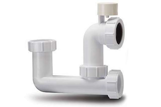 Low Level Bath Trap 75mm Seal 40mm. Anti-Syphon Trap only with Access to Overflow.