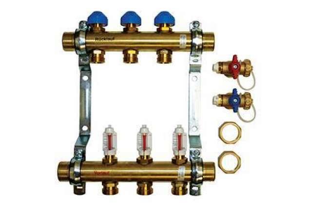 PB08351 - Polypipe UFH Brass 2 port compression manifold