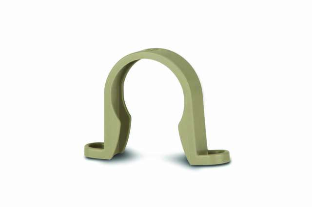 Soil 82mm Pipe Saddle Clip Solvent Grey | Polypipe