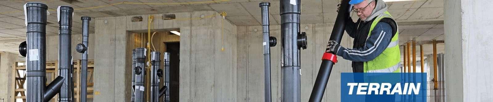 below ground drainage / underground drainage stacks