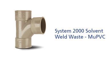 System 2000 Solvent Weld Waste - MuPVC