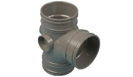 Terrain solvent weld soil drainage pipe fittings for commercial buildings