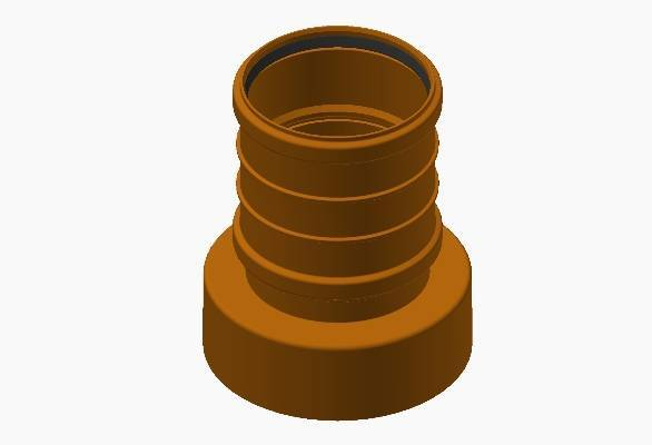 Terrain underground drainage system adaptor for commercial buildings