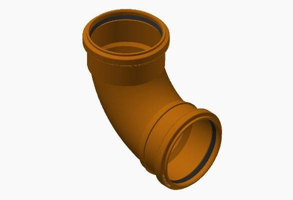 Terrain underground drainage pipe system bend for commercial buildings