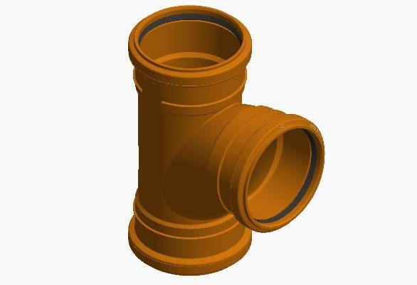 Terrain underground drainage pipe system junction for commercial buildings