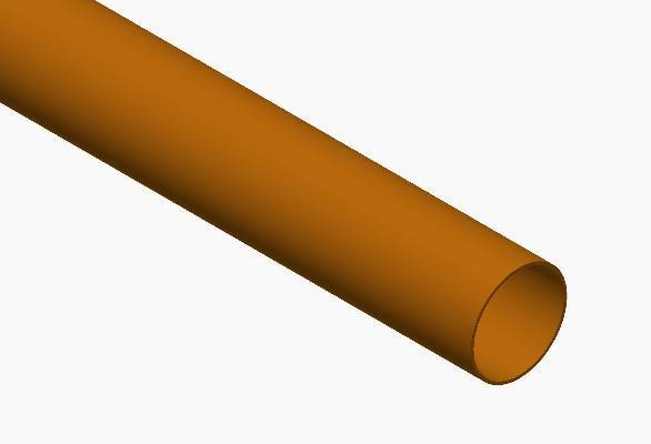Terrain underground drainage pipe system for commercial buildings