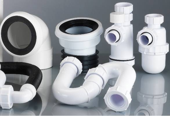 Polypipe Terrain soil and waste pipe drainage system traps and pan connectors for commercial buildings